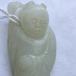Nephrite Jade Carving of a Boy