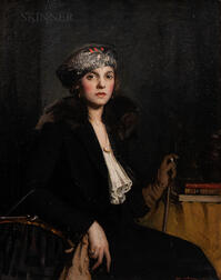 Leslie Prince Thompson (American, 1880-1963)      Portrait of Miss A