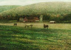 Harold Altman (American, b. 1924)  Lot of Four Prints from the PASTURE
