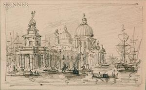 Continental School, 19th Century    Lot of Twenty Sketches of Venice