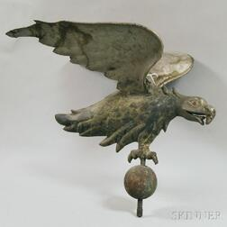 Molded Copper and Cast Zinc Eagle Weathervane