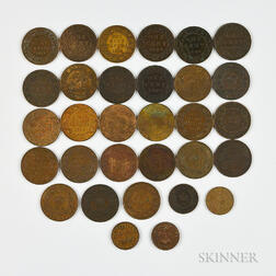 Small Group of Canadian Cents and Half Cents
