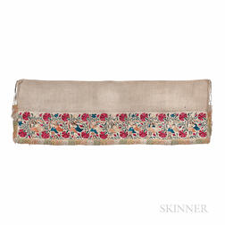 Silk Embroidered Valance