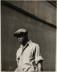 Walker Evans (American, 1903-1975)  Study of a Pedestrian in Detroit, Michigan, Made for the Fortune Magazine Article Labor Anonymous