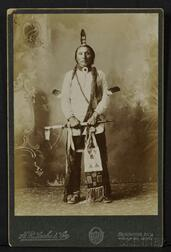 "H.R. Locke and Co. Cabinet Card of ""Chief Brave Heart-Sioux,"""