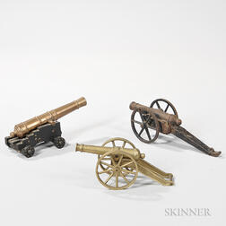 Three Small Model Cannons