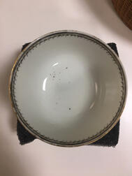 Society of the Cincinnati Tea Bowl and Saucer Made for and Owned by General Benjamin Lincoln
