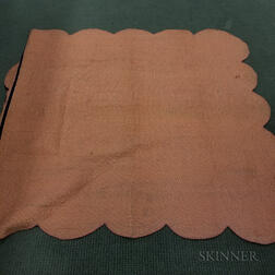 "Amish Pieced Cotton ""Double Wedding Ring"" Quilt.     Estimate $200-250"