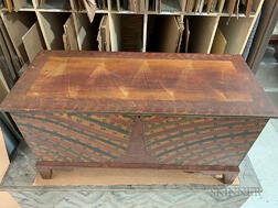 Paint-decorated Tulip Poplar Blanket Chest