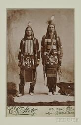 C.C. Stoltz Cabinet Card of Two Ponca Indians