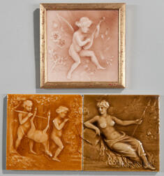 Three American Encaustic Tiling Co. Art Pottery Tiles
