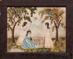 American School, Probably New Hampshire, c. 1820      Unlucky Girls