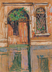 Jane Peterson (American, 1876-1965)      Venetian Doorway in Sunlight, Old Venice