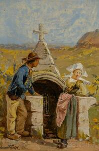 Attributed to Clement Nye Smith (American, 1846-1918)      At the Shrine