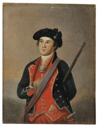 American School, Late 18th Century, After Charles Willson Peale (1741-1827) Portrait Miniature of George Washington as Colonel of the F