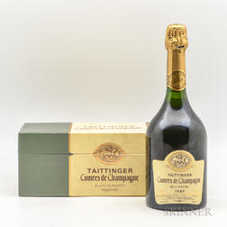 Taittinger Comtes de Champagne 1989, 1 bottle (oc)