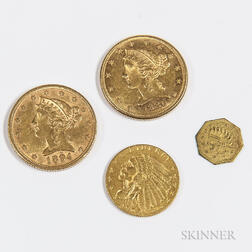 Three American Gold Coins