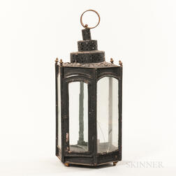 Black-painted Hexagonal Lantern