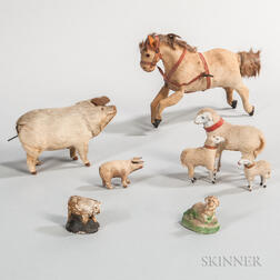 Group of Children's Farm Animal Toys