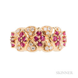 18kt Gold, Ruby, and Diamond Ring, Mauboussin