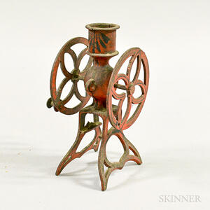Red-painted Iron Toy Grinder