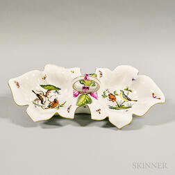 Herend Porcelain Handled Serving Dish