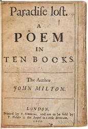 Milton, John (1608-1674) Paradise Lost. A Poem in Ten Books.
