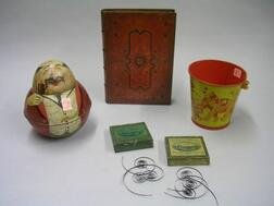 Five Lithographed Tin Containers and Boxes