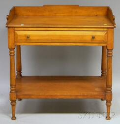 Late Federal Pine and Maple Washstand