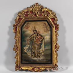 Spanish Colonial School (Ecuador), 19th Century      Mary, the Sovereign Queen, Holding the Christ Child