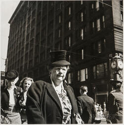Walker Evans (American, 1903-1975)  Street Portrait, Made for the Fortune Magazine Article Chicago: A Camera Exploration (Published F