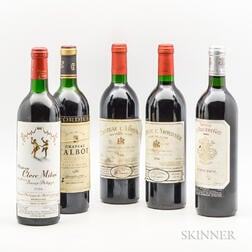 Mixed Bordeaux 1986, 5 bottles