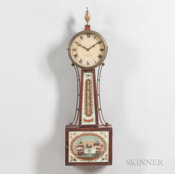 """Lemuel Curtis"" Reeded-front Patent Timepiece or ""Banjo"" Clock"