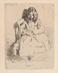 James Abbott McNeill Whistler (American, 1834-1903)      Annie Seated