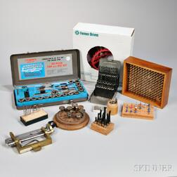 Collection of Drill Bits, Cutters, Tools, and Motors