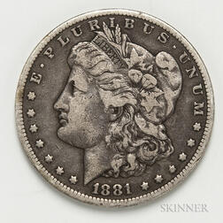 1881-CC Morgan Dollar