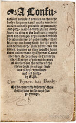 Cranmer, Thomas (1489-1556) A Confutatio[n] of Unwritte[n] Verities.