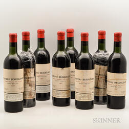 Chateau Beausejour 1957, 8 bottles