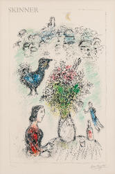 Marc Chagall (Russian/French, 1887-1985)      Le bouquet rose