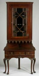 Chippendale-style Mahogany Corner Cupboard
