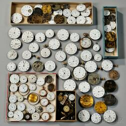 Large Group of Continental Watch Movements