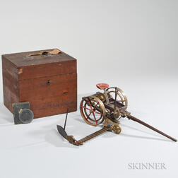 Brass and Rosewood Union Mowing Machine Model