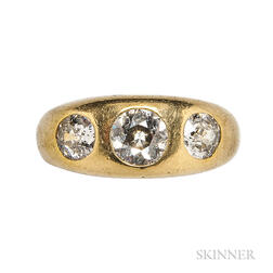 Antique Gold and Diamond Ring