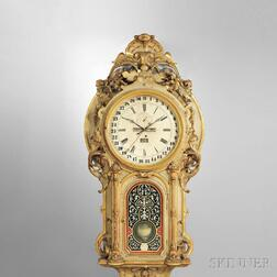 Monumental Carved and Gilded Perpetual Calendar Wall Clock