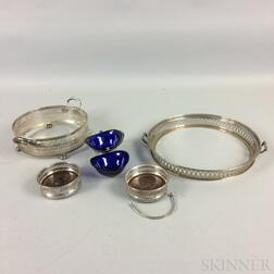 Five Sterling and Silver-plate Items