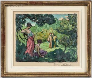 Maurice Chabas (French, 1862-1947)      Figures in a Landscape