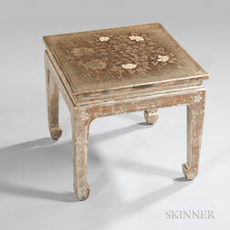 Max Kuehne (American, 1880-1968) Decorated Side Table