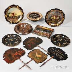 Eleven Victorian-style Table Items
