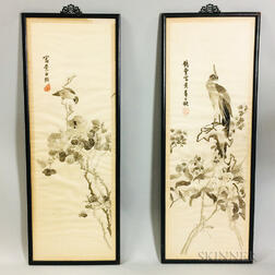 Pair of Framed Embroideries