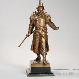 Gilt-bronze Model of a Soldier